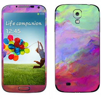 Виниловая наклейка «Цветные грозовые облака» на телефон Samsung Galaxy S4