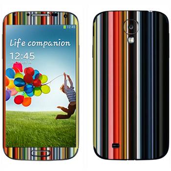 Виниловая наклейка «Цветные вертикальные линии» на телефон Samsung Galaxy S4