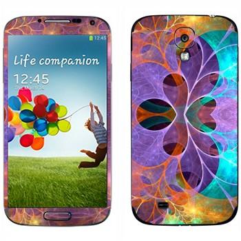Виниловая наклейка «Цветочные фракталы» на телефон Samsung Galaxy S4