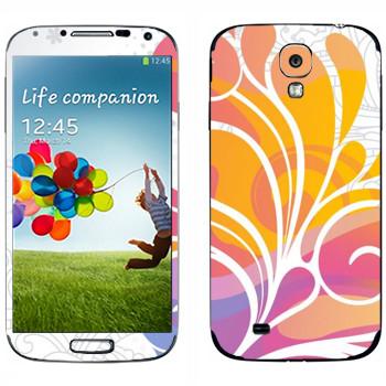 Виниловая наклейка «Цветок красочный» на телефон Samsung Galaxy S4