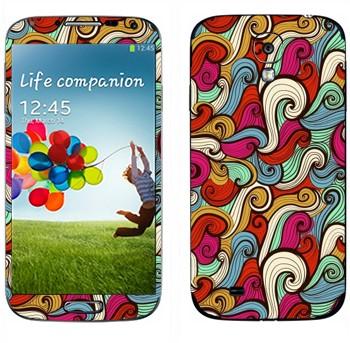 Виниловая наклейка «Волны нарисованные абстрактные» на телефон Samsung Galaxy S4