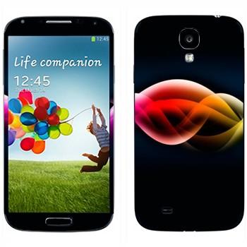 Виниловая наклейка «Волны цвета» на телефон Samsung Galaxy S4