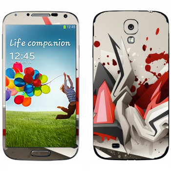 Виниловая наклейка «Взрыв в объеме» на телефон Samsung Galaxy S4
