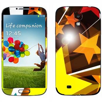 Виниловая наклейка «Звезды разлетаются» на телефон Samsung Galaxy S4