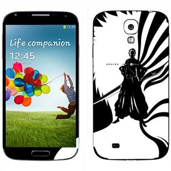 Виниловая наклейка «Bleach - Between Heaven or Hell» на телефон Samsung Galaxy S4