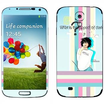 Виниловая наклейка «Death Note» на телефон Samsung Galaxy S4
