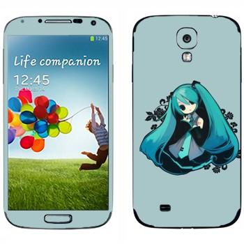 Виниловая наклейка «Hatsune Miku - Vocaloid» на телефон Samsung Galaxy S4