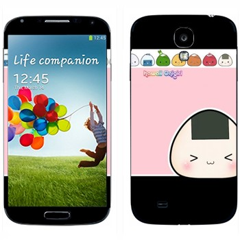 Виниловая наклейка «Kawaii Onigirl» на телефон Samsung Galaxy S4