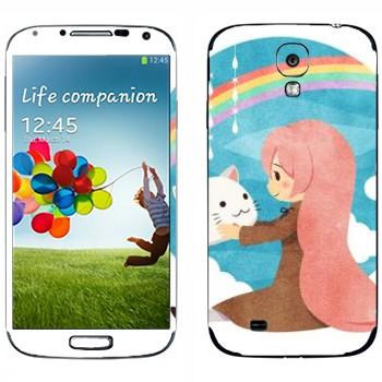 Виниловая наклейка «Megurine -Toeto - Vocaloid» на телефон Samsung Galaxy S4
