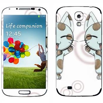 Виниловая наклейка «Neko - кот» на телефон Samsung Galaxy S4