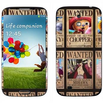 Виниловая наклейка «One Piece - постер Разыскиваются» на телефон Samsung Galaxy S4