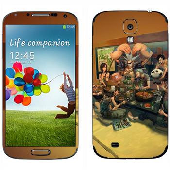 Виниловая наклейка «One Piece - трапеза» на телефон Samsung Galaxy S4
