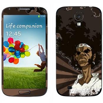 Виниловая наклейка «Афросамурай полупрофиль» на телефон Samsung Galaxy S4