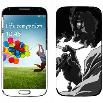 Виниловая наклейка «Афросамурай профиль» на телефон Samsung Galaxy S4