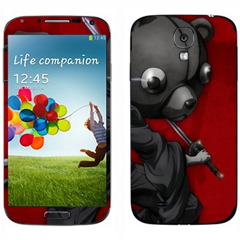 Виниловая наклейка «Афросамурай с головой медведя» на телефон Samsung Galaxy S4