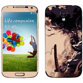 Виниловая наклейка «Афросамурай» на телефон Samsung Galaxy S4