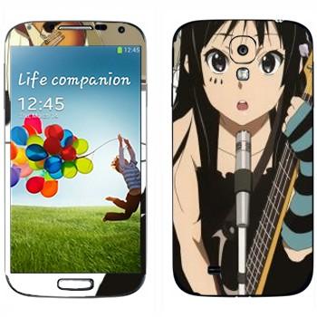 Виниловая наклейка «Акияма Мио - K-on» на телефон Samsung Galaxy S4