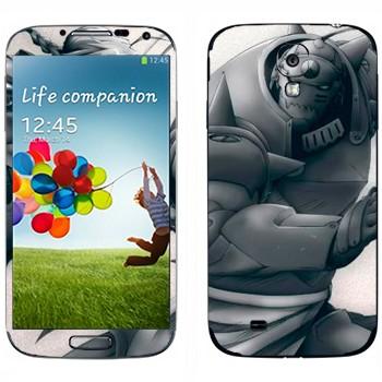 Виниловая наклейка «Альфонс и Эдвард Элрики - Fullmetal Alchemist» на телефон Samsung Galaxy S4
