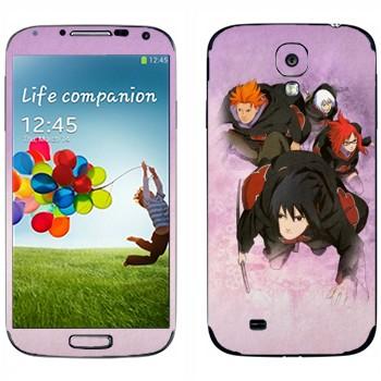 Виниловая наклейка «Бойцы - Наруто» на телефон Samsung Galaxy S4