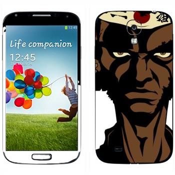 Виниловая наклейка «Чернокожий самурай - Afro Samurai» на телефон Samsung Galaxy S4