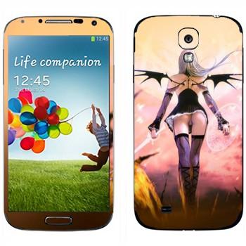 Виниловая наклейка «Демон-воительница» на телефон Samsung Galaxy S4