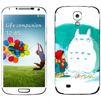 Виниловая наклейка «Девочка и Тоторо» на телефон Samsung Galaxy S4