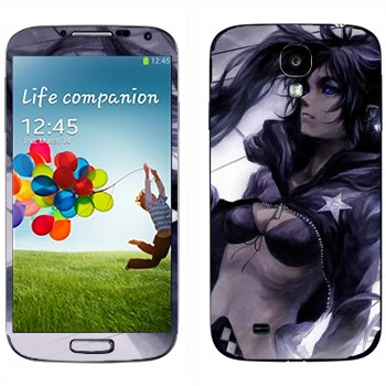 Виниловая наклейка «Девушка в темном» на телефон Samsung Galaxy S4