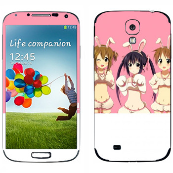 Виниловая наклейка «Девушки - K-on» на телефон Samsung Galaxy S4