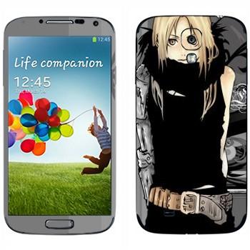 Виниловая наклейка «Эдвард Элрик - Fullmetal Alchemist» на телефон Samsung Galaxy S4