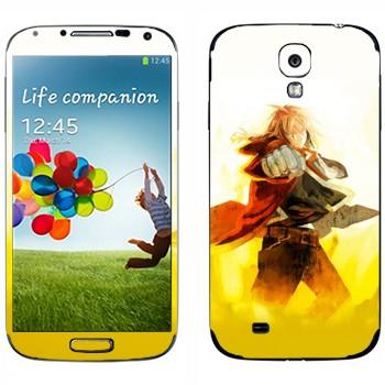 Виниловая наклейка «Эдвард Элрик - Стальной алхимик» на телефон Samsung Galaxy S4