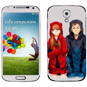 Виниловая наклейка «Евангелион» на телефон Samsung Galaxy S4