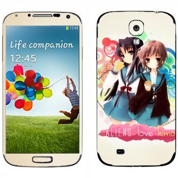 Виниловая наклейка «Харухи и Юки - Меланхолия Харухи Судзумии» на телефон Samsung Galaxy S4