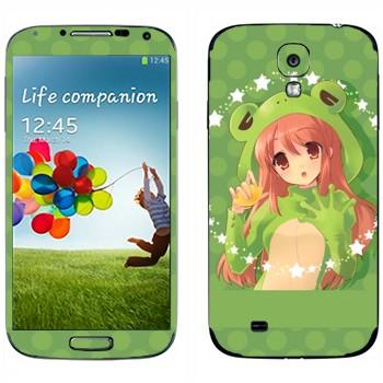Виниловая наклейка «Харухи Судзумия - Меланхолия Харухи Судзумии» на телефон Samsung Galaxy S4
