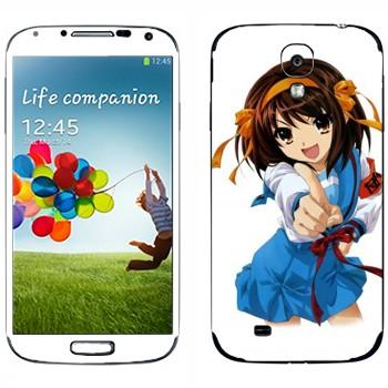 Виниловая наклейка «Харухи Судзумия» на телефон Samsung Galaxy S4