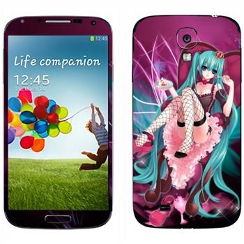 Виниловая наклейка «Хатсуне Мику» на телефон Samsung Galaxy S4