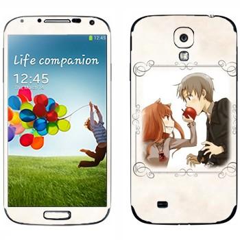 Виниловая наклейка «Холо и Крафт - Spice and wolf» на телефон Samsung Galaxy S4