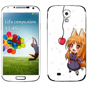 Виниловая наклейка «Холо и яблоко - Spice and wolf» на телефон Samsung Galaxy S4