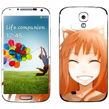 Виниловая наклейка «Хоро - Волчица и пряности» на телефон Samsung Galaxy S4