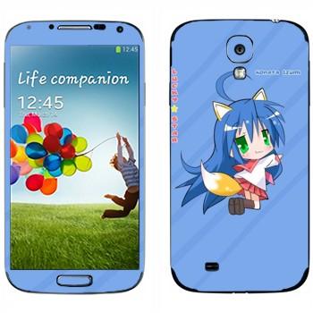 Виниловая наклейка «Идзуми Коната  - Lucky Star» на телефон Samsung Galaxy S4