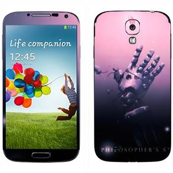 Виниловая наклейка «Железная рука - Стальной алхимик» на телефон Samsung Galaxy S4