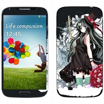 Виниловая наклейка «K-On! Девушка в черном» на телефон Samsung Galaxy S4