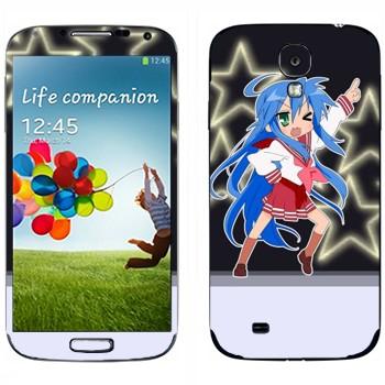 Виниловая наклейка «Коната Изуми - Lucky Star» на телефон Samsung Galaxy S4