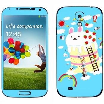 Виниловая наклейка «Кролик на пироге - Kawaii» на телефон Samsung Galaxy S4