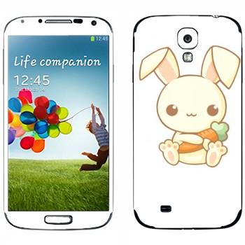 Виниловая наклейка «Кролик с морковкой - Kawaii» на телефон Samsung Galaxy S4