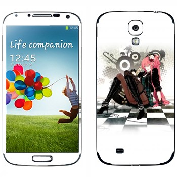 Виниловая наклейка «Мэгурине Лука (Megurine Luka)» на телефон Samsung Galaxy S4