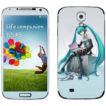 Виниловая наклейка «Мику Хацуне» на телефон Samsung Galaxy S4