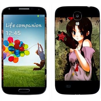 Виниловая наклейка «Мио Акияма - K-on» на телефон Samsung Galaxy S4