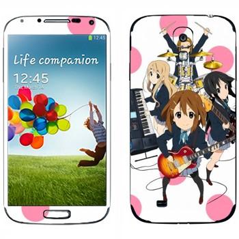 Виниловая наклейка «Музыкальная группа - K-on» на телефон Samsung Galaxy S4