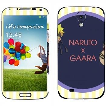 Виниловая наклейка «Наруто и Гаара» на телефон Samsung Galaxy S4