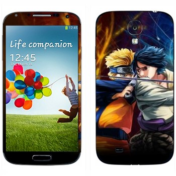 Виниловая наклейка «Наруто в бою» на телефон Samsung Galaxy S4